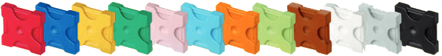LaQ - farby dielikov